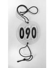 V-Plast numer startowy okrągły z gumkami 24h